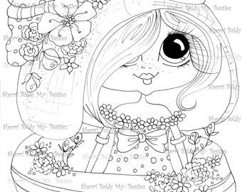 INSTANT DOWMLOAD Digital Digi Stamps Big Eye Big Head Dolls Digi Scan00012223  By Sherri Baldy