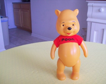 Winnie The Pooh Squeaker Toy 8 Inches. Vintage 1960s