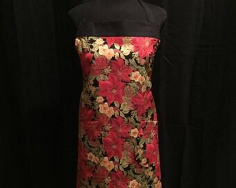 Adult Poinsettia Apron w/ Adjustable Straps