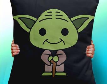 Yoda Star wars - Cushion / Pillow Cover / Panel / Fabric