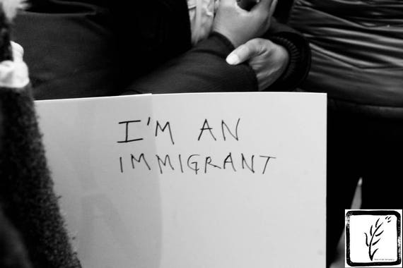 """I'm an Immigrant,"" New York City Women's March, 2017."