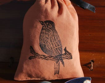 Drawstring Reusesble Gift Treasure Songbird Bag