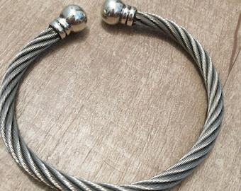 silver and stainless bracelet for women 950 - Peru  hand made