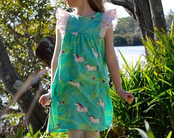 The Polly Ruffle Dress PDF Sewing Pattern