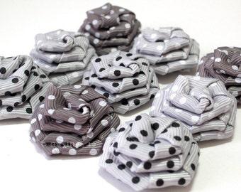 Classique gris Multi Polka Dot Rose Drops - (9)