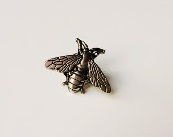 Bee | Wasp | Queen Bee | Manchester | Metal | Unusual | Cute | Pin | Badge | Retro | Hipster | Upcycle | Accessory | Modify