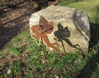 Handmade Metal Garden Fairy. Add some whimsy to your yard. No two are alike. All of my pieces are handmade.