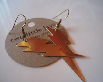 OKC Thunder Earrings Lightning Bolt Handmade Jewelry