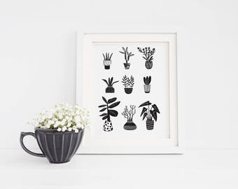 Cactus Print Collection | Printable Art | Home Decor | Wall decor | Instant Download | Digital Prints | Gift | Illustration | cactus