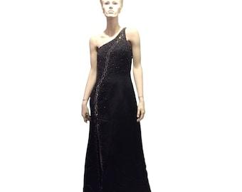 Vintage One Shoulder Evening Gown