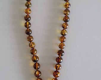 Natural Amber Necklace with Pendant