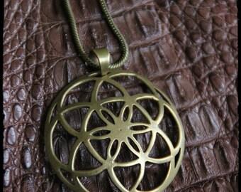 SALES !!!Mandala - Sacred Geometry Pendant - Unique - Design - Boho - Chic - Tribal - Goa style - India -