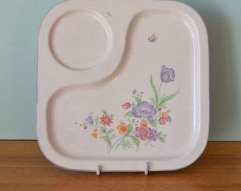 Vintage Nitoen serving tray Japan dinner plate ceramic tv tray Dbt2