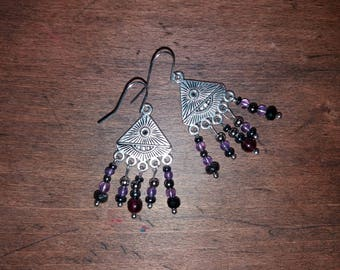 No. 10 Stone amethyst and Garnet 3mm