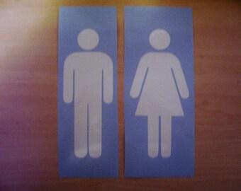 Restroom decal, Bathroom decal, bathroom sticker