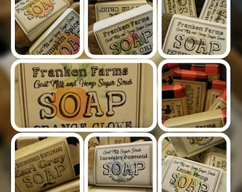 Goats Milk and Hemp Soap WHOLESALE  20 (Twenty) 4 Oz. bars~ You Choose Scents