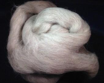 Masham Wool 2oz Gray Wool Spinning Fiber Felting Fiber