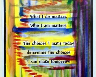 What I Do MATTERS Lesson Plan Motivation TEACHER CLASSROOM Business Children Family Recovery Inspiration Heartful Art by Raphaella Vaisseau