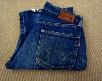 Mens EDWIN Lot 505 SX Button Selvedge 29x31 Classic, Straight Leg Made in Japan