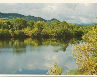 Vintage 1980s Postcard Burns Lake British Columbia BC Canada Northern Interior Scenic Mountain View Photochrome Postally Unused