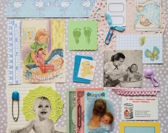 Baby Mine Vintage Ephemera Collection | 25+ pieces | Mixed Media | Junk Journal | Scrap Pack | Inspiration Kit | Paper Arts & Crafts