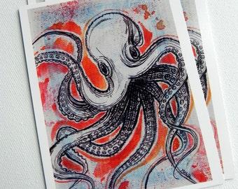 Octopus - Art Postcard