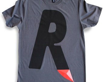 R is for Razortown T-shirt (charcoal)