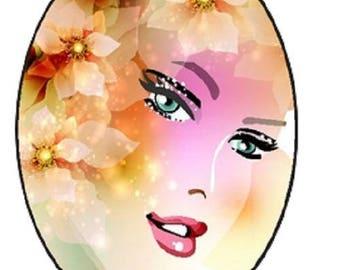 pretty woman cabochon, 18x25mm