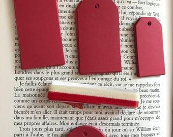 1 - Set red paper labels
