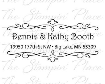 Custom Address Stamp - Scroll Address PR153
