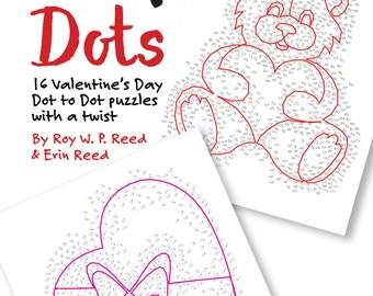 Valentine Dot to Dot Skip Counting Number Puzzles. 16 different puzzles for kids to learn math and adults to keep their brains sharp.
