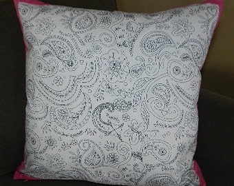 7 Sizes Available - Color Me Pillow Cover Complete with Fabric Markers,Sham, Throw Pillow, Cushion, Decorative Pillow