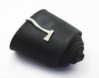 Silver axe Tie Clip, Fashion Tie Clip, Classic Tie Clip, Silver Tie Clip, Novelty Accessories, Gift For Man