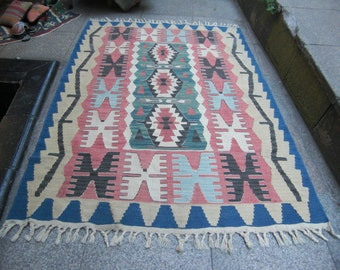 floor kilim rug ,  kilim rug, unique kilim decor, 357
