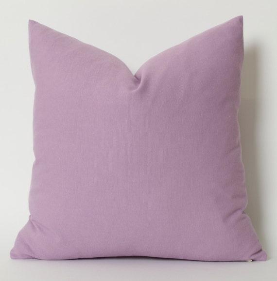 Light Purple Linen Pillow Cover ALL SIZE Accent Pillows - Purple decorative bedroom pillows