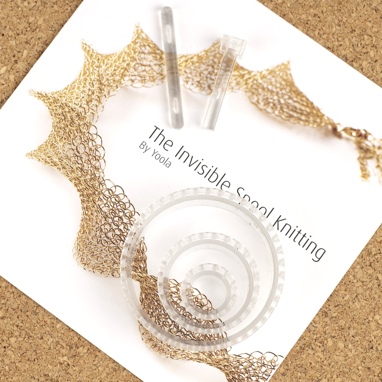 Limited Edition- CLEAR Jewelry Loom, Wire crochet Invisible Spool ...
