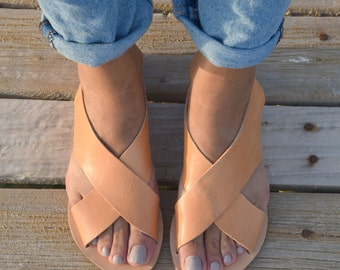 Greek Leather Sandals, Gladiator Sandals, Ancient Greek Sandals,Greek Gladiator, Summer flats, Women's Sandals, Handmade Sandals, Greek Flat