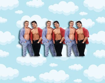 """Saved by the Bell Hunks Sticker Pack 3 ct 2 x 1.5"""" - Zack Morris - A.C. Slater - 90s Stickers - 1990s - Notebook Stickers - Laptop Stickers"""