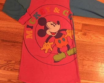80s/90s Vintage Mickey & Co multicolored girls night gown
