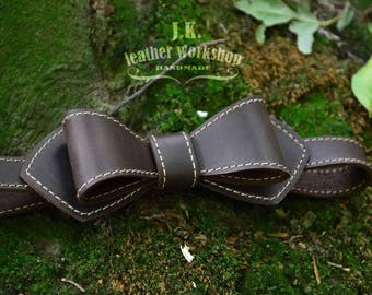 Leather bow tie Mens bowties Personalized bow tie Wedding leather bow tie wedding bow tie Christmas Gift Personalized gift Groomsmen gift