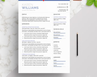 Professional   Elegant Resume Template for Word   Modern Resume Design   CV Template for Word   2 Page Resume + Cover Letter + References