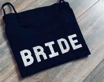Bride vest top wedding hen party