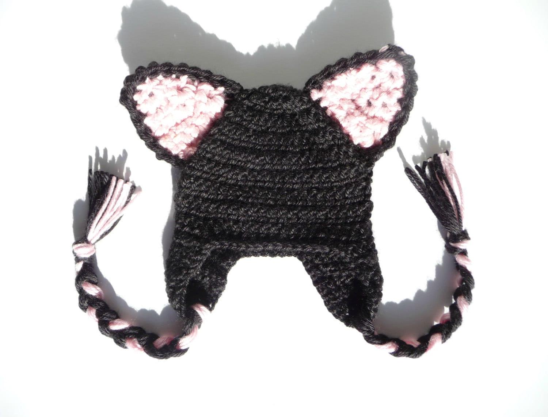 Cat Hat CROCHET PATTERN Crochet Cat Hat Baby Cat Hat Pattern Cat Ear ...