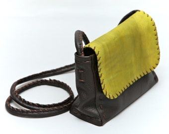 Leather small bag-grassy green!