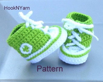 Baby Converse Pattern, Converse Pattern, Booties pattern, baby booties pattern, baby shoes, baby booties, toddler shoes, toddler booties