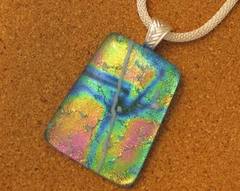 Dichroic Pendant - Dichroic Jewelry - Fused Glass Pendant - Fused Glass Jewelry - Dichroic Necklace - Fused Glass Necklace