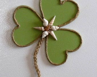 St. Patrick's Day Decor Irish Beach Cottage Shamrock Magnet