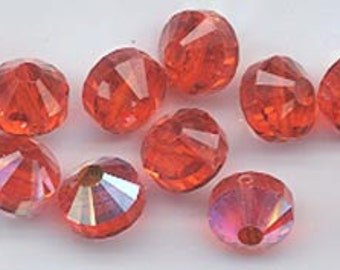 Wow - 12 vintage Swarovski crystal beads: Art. 5101 - 8 mm - hyacinth AB