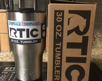 Custom Engraved Stainless Steel 30oz RTIC Tumbler NEW STYLE