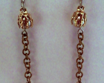 Silver and Gold Chain Earrings